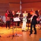 Sue directing the Cuban music big band