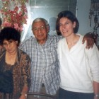 Gladys and Richard Egues with Sue Miller in April 2001