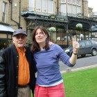 Amadito Valdes and Sue Miller outside Bettys Tearooms Harrogate 2008 (Small)