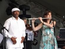 Guillermo Davis and Sue Miller. Barbican Festival Paradise Gardens 2009