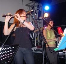 Sue and Yudnara flute and guiro (Small)